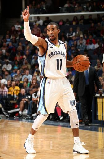 MEMPHIS, TN - JANUARY 18: Mike Conley #11 of the Memphis Grizzlies calls out a play against the Sacramento Kings on January 18, 2013 at FedExForum in Memphis, Tennessee. (Photo by Joe Murphy/NBAE via Getty Images)