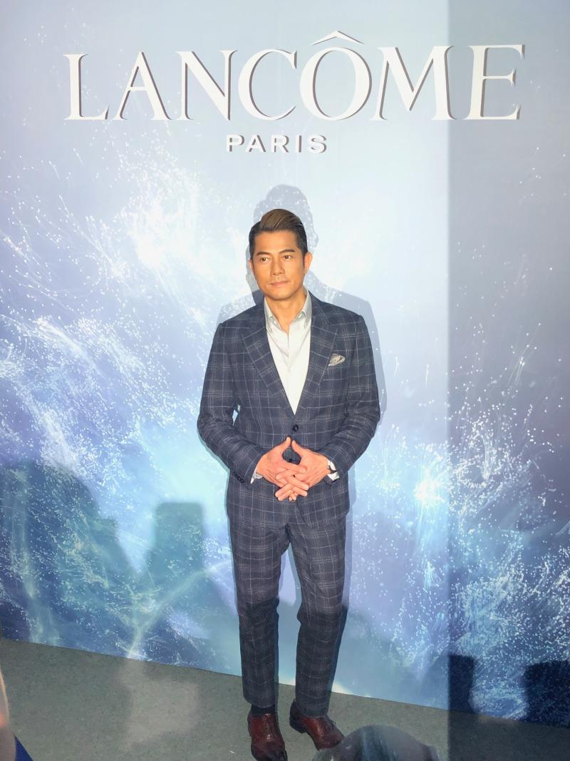 Aaron Kwok at the grand launch of the new Advanced Génifique. (PHOTO: Sheila Chiang/Yahoo Lifestyle Singapore)