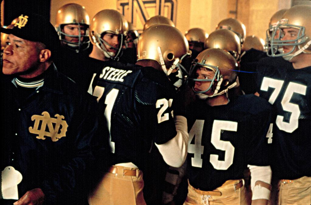 "<a href=""http://movies.yahoo.com/movie/1800198675/info"">RUDY</a>  Based on: The college football career of Rudy Ruettiger   Rudy Ruettiger really, really wanted to play football for Notre Dame, even though his grades were lousy and compared with the average football player, he was rather small. But that didn't stop him. And after years of hard work and perseverance, he made it. Sure, some of the moments in the much loved movie were more dramatic than true, but it's still a great story."