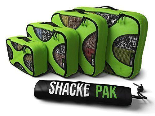 """Organize and compress the contents of your travel bag. Ideal for the traveler who likes to stay organized. <strong><a href=""""https://www.amazon.com/Shacke-Pak-Packing-Organizers-Laundry/dp/B00KPFCY54"""" target=""""_blank"""" rel=""""noopener noreferrer"""">Get a starter kithere</a></strong><a href=""""https://jet.com/product/Shacke-Pak-4-Set-Packing-Cubes-Travel-Organizers-with-Laundry-Bag-Green-Grass/12978cfde8a24129b841e49894cfd063"""" target=""""_blank"""" rel=""""noopener noreferrer""""></a>."""