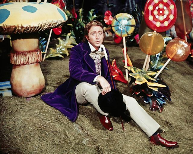 <p>Gene Wilder, an icon of American comedy known for his collaborations with Mel Brooks (The Producers, Blazing Saddles, Young Frankenstein) and his role in Willy Wonka & The Chocolate Factory, died at 83 on August 29. — (Pictured) Gene Wilder as Willy Wonka in the film 'Willy Wonka & the Chocolate Factory', 1971. (Silver Screen Collection/Getty Images) </p>
