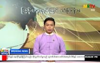 Myanmar state broadcaster MRTV warned that opposition to the military takeover was unlawful and signalled a potential crackdown