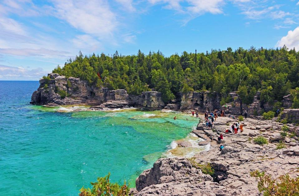 """<span class=""""caption"""">The Northern Bruce Peninsula in Ontario has been a popular domestic tourism destination during COVID-19.</span> <span class=""""attribution""""><span class=""""source"""">Luke Smith/Unsplash</span></span>"""