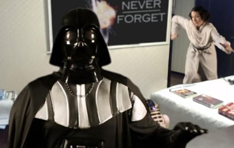 A Star Wars-inspired spoof of the viral BBC interview is creating a buzz online. Source: Youtube/Jack Of All Genius