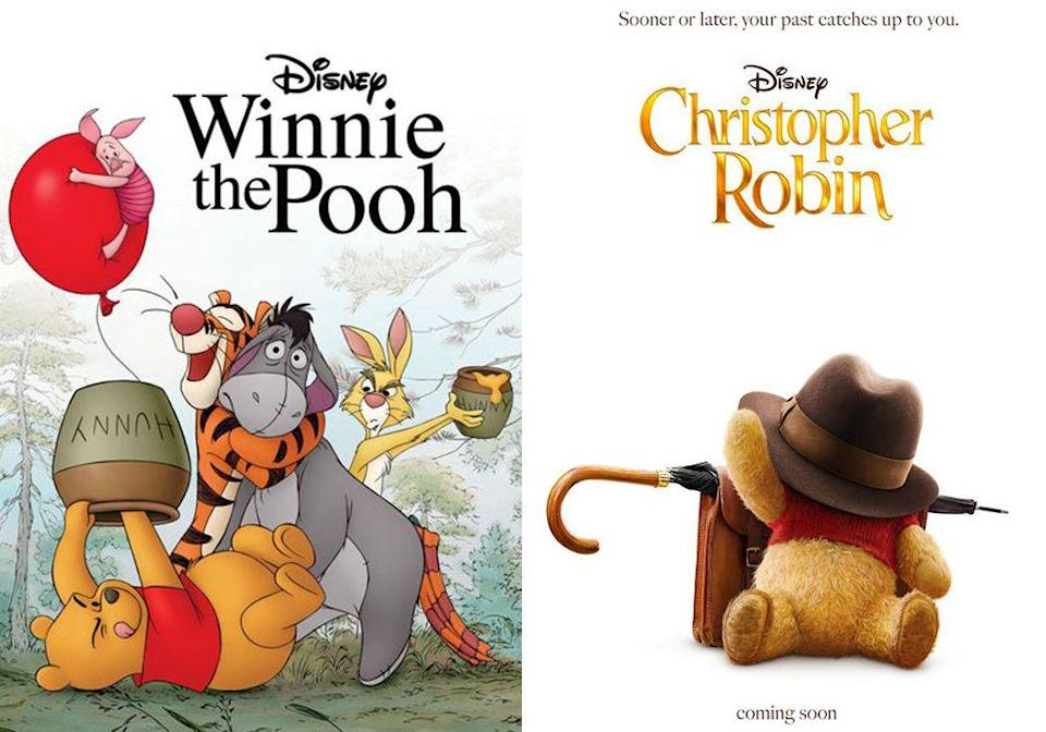 """<p>In this follow-up to the beloved classic <em>Winnie the Pooh</em>, Christopher Robin is a working-class family man who's lost sight of the joys in life. When he encounters his childhood friend Winnie-the-Pooh, the toy helps him rediscover happiness.</p><p><a class=""""link rapid-noclick-resp"""" href=""""https://www.amazon.com/Christopher-Robin-Ewan-McGregor/dp/B07FVT3WF4/?tag=syn-yahoo-20&ascsubtag=%5Bartid%7C10065.g.2936%5Bsrc%7Cyahoo-us"""" rel=""""nofollow noopener"""" target=""""_blank"""" data-ylk=""""slk:Watch the Remake"""">Watch the Remake</a></p>"""