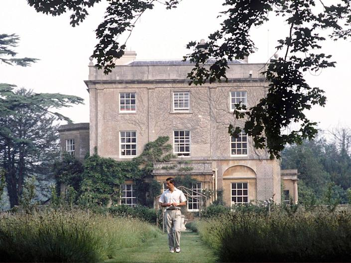 Prince Charles In The Gardens At His Country Home, Highgrove House In Gloucestershire.