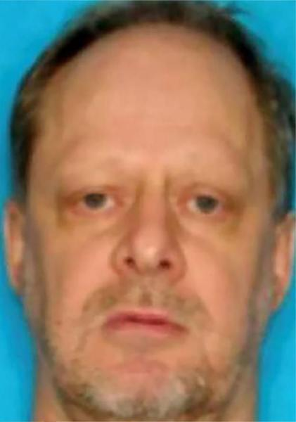 Stephen Paddock, identified in an undated and unlocated low resolution image (probably taken from his driver licence), widely circulated on social networks and US media (AFP Photo/-)