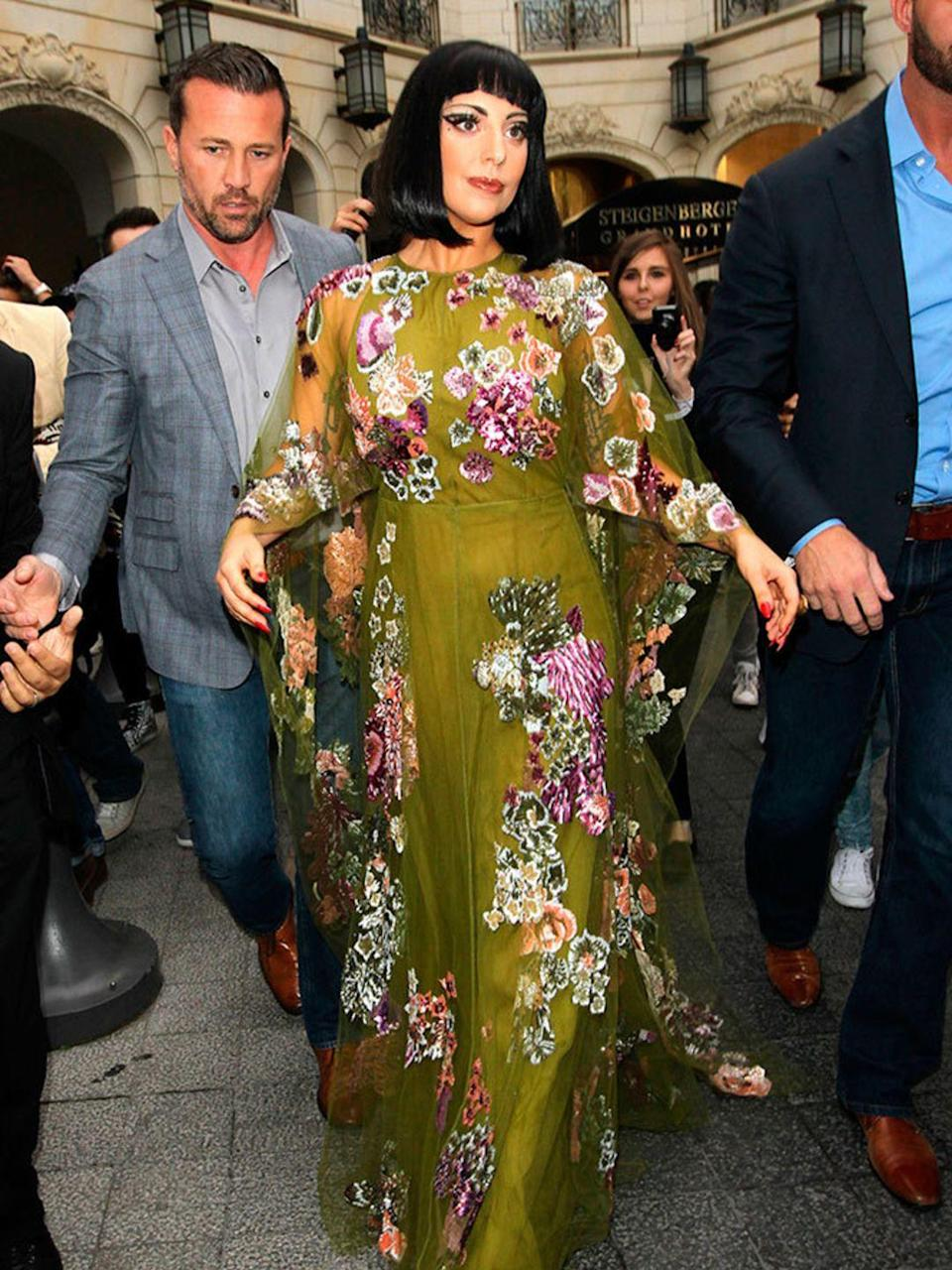 <p>Lady Gaga out and about in Brussels, September 2014.</p>