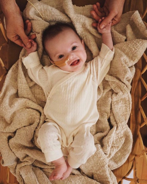 The family's financial situation has turned around in just a day, with donations flooding in to help Rumi. Photo: Instagram