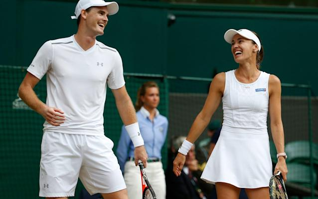 <span>Murray and Hingis are all smiles</span>