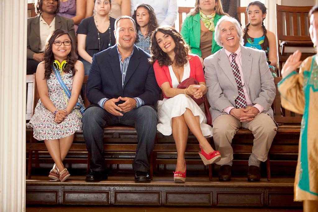 """ Here Comes the Boom "" Release date: October 12 Starring: Kevin James and Salma Hayek"
