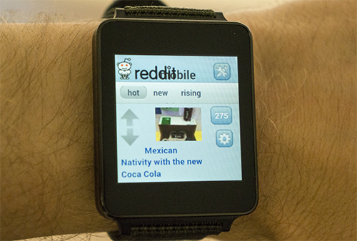 Reddit on an Android watch