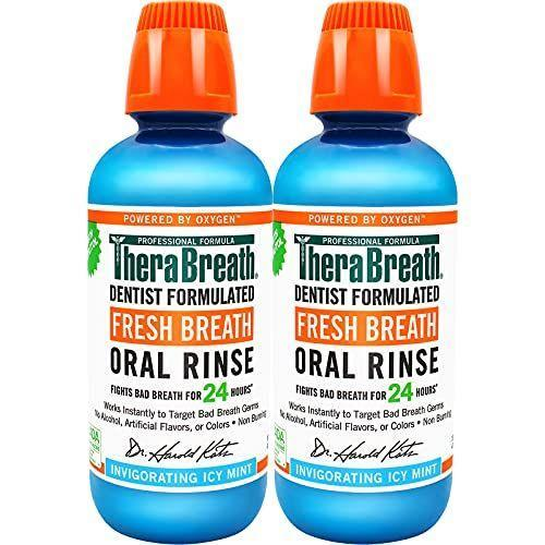 """<p><strong>TheraBreath</strong></p><p>amazon.com</p><p><strong>$13.86</strong></p><p><a href=""""https://www.amazon.com/dp/B00IRKRK9O?tag=syn-yahoo-20&ascsubtag=%5Bartid%7C10063.g.37340306%5Bsrc%7Cyahoo-us"""" rel=""""nofollow noopener"""" target=""""_blank"""" data-ylk=""""slk:Shop Now"""" class=""""link rapid-noclick-resp"""">Shop Now</a></p><p>This instantly freshens your breath and restores confidence. It's safe to use at least twice daily and does not contain alcohol or artificial flavors and colors. </p>"""