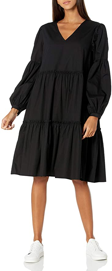 "<br><br><strong>The Drop</strong> Long Sleeve Tiered Poplin Dress, $, available at <a href=""https://amzn.to/3mjSGyu"" rel=""nofollow noopener"" target=""_blank"" data-ylk=""slk:Amazon"" class=""link rapid-noclick-resp"">Amazon</a>"