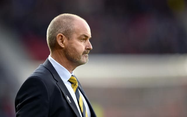 Steve Clarke's Scotland still have the chance to reach Euro 2020 via March's Nations League play-offs (Ian Rutherford/PA)