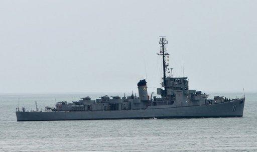 Philippine navy ship BRP Rajah Humabon leaves Subic Bay, the former US navy base, near the south China sea in July