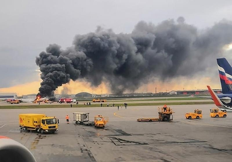 The jet was carrying 73 passengers and five crew members when it took off on a flight to Murmansk (AFP Photo/HO)