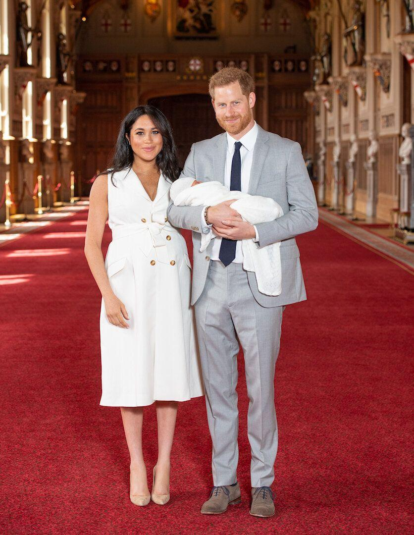 The Duchess of Sussex championed London-based designer, Grace Wales Bonner, at the royal baby reveal [Photo: PA]