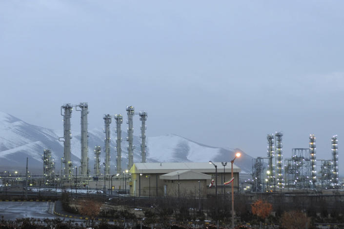 """FILE - This Jan. 15, 2011 file photo shows Arak heavy water nuclear facilities, near the central city of Arak, 150 miles (250 kilometers) southwest of the capital Tehran, Iran. The United Nations' atomic watchdog says Iran has enriched uranium to slightly higher purity than previously thought due to """"fluctuations"""" in the process in a report that underscores the challenges diplomats face in ongoing talks to bring the United States back into the nuclear deal with Tehran. (AP Photo/ISNA, Hamid Foroutan, File)"""
