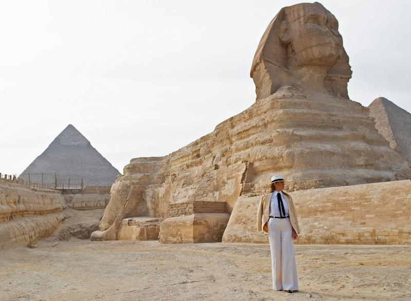 Melania Trump Visits the Pyramids as She Wraps up Solo Africa Tour