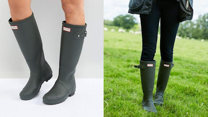 Rainy day weather this spring will be no match for these Hunter wellies.