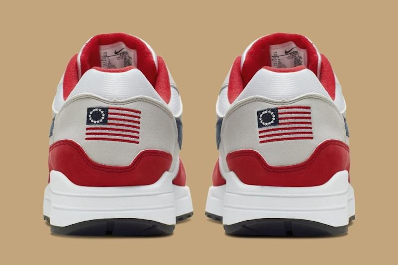 Nike's Air Max Quick Strike Fourth of July Edition shoe.