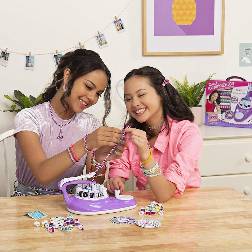 <p>With everything included in the <span>Cool Maker 2-in-1 KumiKreator Necklace & Friendship Bracelet Maker</span> ($19), your tween can create five bracelets and two necklaces.</p>