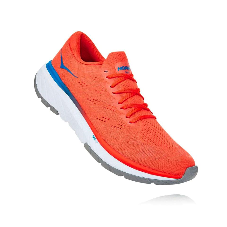"""<p><a href=""""https://go.redirectingat.com?id=74968X1596630&url=https%3A%2F%2Fwww.hokaoneone.com%2Fsale%2Fcavu-3%2F1106481.html&sref=https%3A%2F%2Fwww.menshealth.com%2Ftechnology-gear%2Fg36099041%2Fhoka-one-one-2021-sale%2F"""" rel=""""nofollow noopener"""" target=""""_blank"""" data-ylk=""""slk:BUY IT HERE"""" class=""""link rapid-noclick-resp"""">BUY IT HERE</a></p><p><strong><del>$120</del> <br>$94.99<br></strong>""""That's one fine-looking shoe"""" isn't something you used to hear about a Hoka. But the Cavu 3 changed all that. It delivers just as much comfort and speed underfoot as it does style when paired with jeans. If there's one shoe I'm packing for a long vacation (whenever that happens again), it's this do-it-all shoe.</p>"""