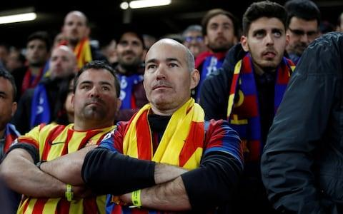 Barcelona fans - Credit: ACTION IMAGES