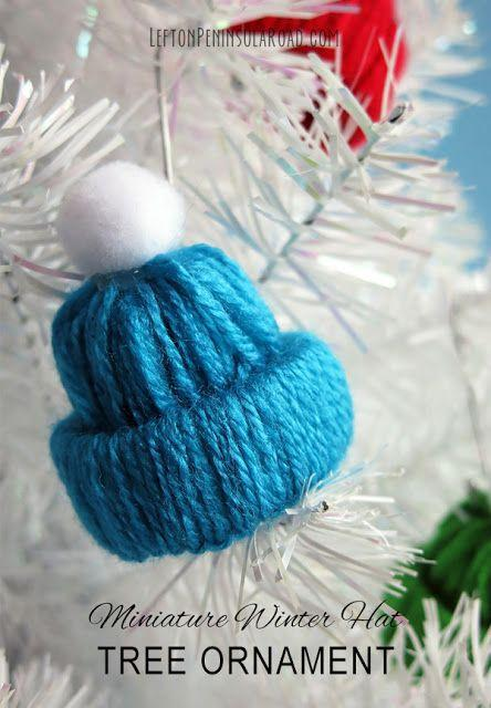 """<p>When the weather gets colder, make sure your tree stays warm with these mini winter hat ornaments. All you need is yarn and pom-poms to create these cute decorations.</p><p><strong>Get the tutorial at <a href=""""https://www.leftonpeninsularoad.com/2016/01/make-it-miniature-winter-hat-yarn-craft.html"""" rel=""""nofollow noopener"""" target=""""_blank"""" data-ylk=""""slk:Left on Peninsula Road"""" class=""""link rapid-noclick-resp"""">Left on Peninsula Road</a>.</strong></p><p><a class=""""link rapid-noclick-resp"""" href=""""https://www.amazon.com/Mira-Handcrafts-Acrylic-Knitting-Beginner/dp/B017OULYD0/ref=sr_1_1_sspa?tag=syn-yahoo-20&ascsubtag=%5Bartid%7C10050.g.1070%5Bsrc%7Cyahoo-us"""" rel=""""nofollow noopener"""" target=""""_blank"""" data-ylk=""""slk:SHOP YARN"""">SHOP YARN</a></p>"""
