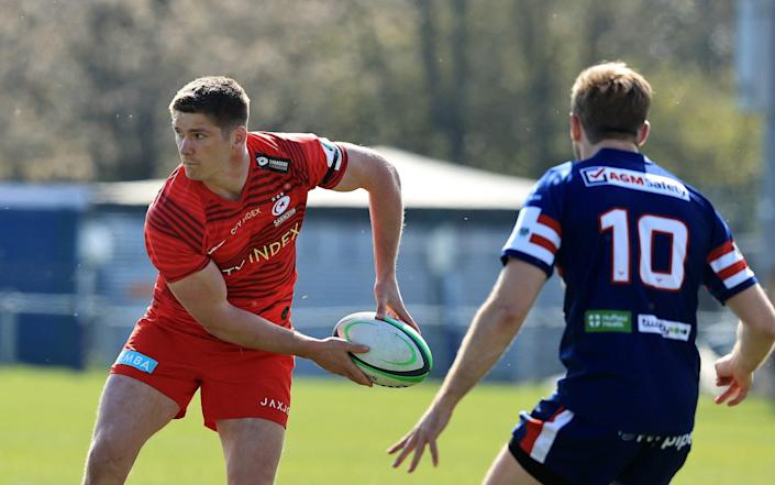 Owen Farrell made his first appearance for Saracens since September - GETTY IMAGES