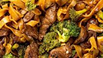 """<p>With soy sauce-infused steak and broccoli, these noodles are so much better than a takeaway.</p><p>Get the <a href=""""https://www.delish.com/uk/cooking/recipes/a28756372/beef-and-broccoli-noodles-recipe/"""" rel=""""nofollow noopener"""" target=""""_blank"""" data-ylk=""""slk:Beef & Broccoli Noodles"""" class=""""link rapid-noclick-resp"""">Beef & Broccoli Noodles</a> recipe.</p>"""