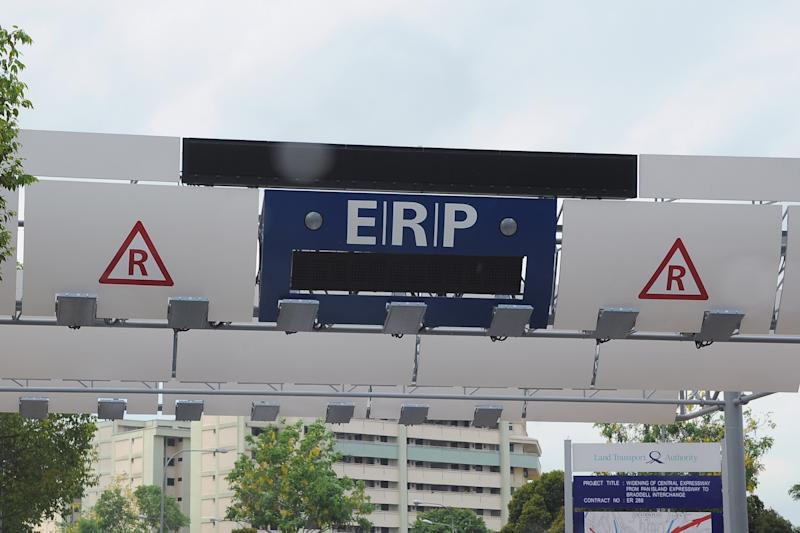 An Electronic Road Pricing (ERP) gantry. (Yahoo News Singapore file photo)