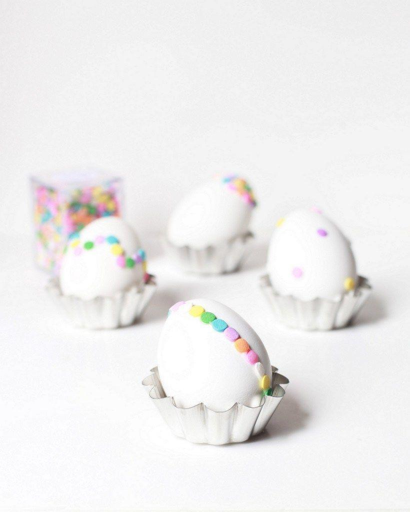 "<p>Recycle any leftover confetti sprinkles from Easter cookie decorating and add a colorful contrast to standard white eggs.</p><p><strong>Get the tutorial at <a href=""http://poshlittledesigns.com/2014/04/03/confetti-easter-eggs-diy/"" rel=""nofollow noopener"" target=""_blank"" data-ylk=""slk:Posh Little Designs"" class=""link rapid-noclick-resp"">Posh Little Designs</a>. </strong></p><p><strong><a class=""link rapid-noclick-resp"" href=""https://www.amazon.com/Edible-Confetti-Sprinkles-Cookie-Cupcake/dp/B008Y2TST0/?tag=syn-yahoo-20&ascsubtag=%5Bartid%7C10050.g.1282%5Bsrc%7Cyahoo-us"" rel=""nofollow noopener"" target=""_blank"" data-ylk=""slk:SHOP EDIBLE CONFETTI"">SHOP EDIBLE CONFETTI</a><br></strong></p>"