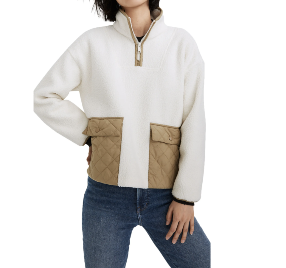 Madewell (Re)sourced Fleece Quilted Pocket Popover Jacket - Nordstrom, $90 (originally $128)