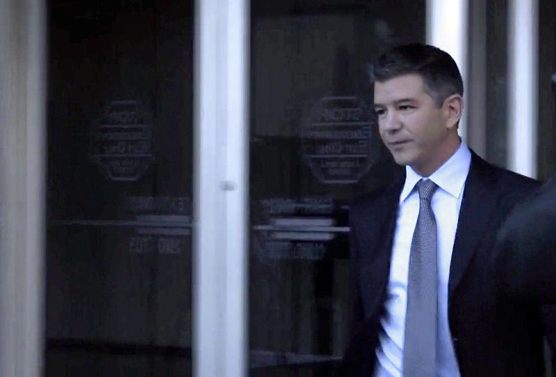 FILE PHOTO: Former Uber Chief Executive Officer Travis Kalanick leaves a federal court in San Francisco