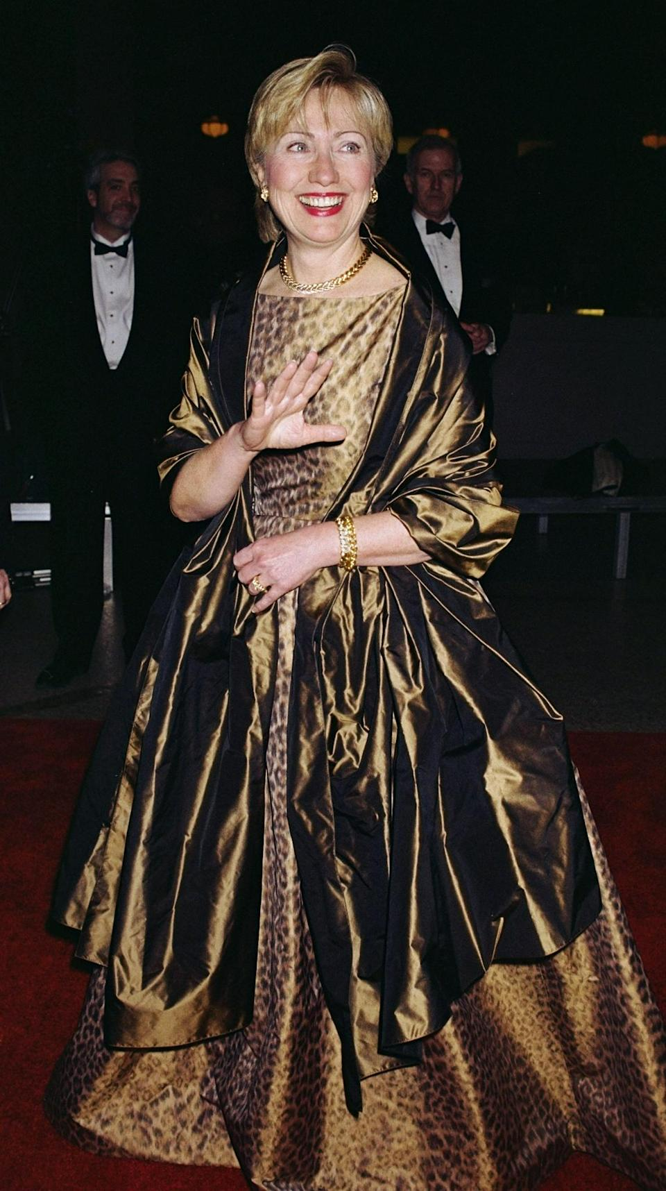<p>Clinton in leopard skin did not win the popular vote. <i>(Photo via Getty Images)</i> </p>