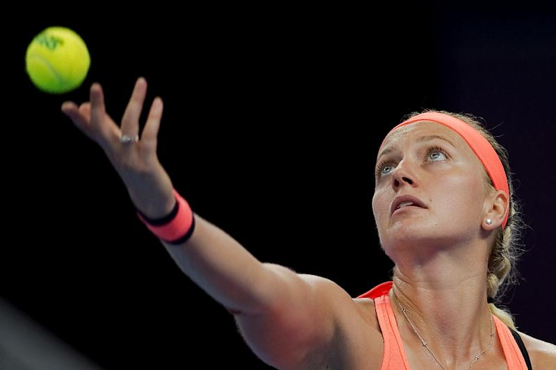 Kvitova back practising after hand injury