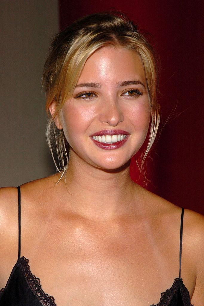 <p>Ivanka amps up the face highlighter and goes for bold, vamp lips. (Photo: Getty Images) </p>