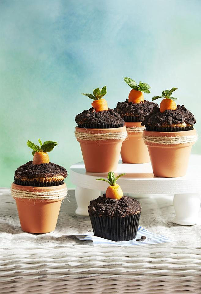 """<p>A classic children's book for ages, <em>The Very Hungry Caterpillar</em> is a winning choice for a baby boy shower theme. <a href=""""https://www.countryliving.com/food-drinks/a30876020/carrot-patch-cupcakes-recipe/"""" target=""""_blank"""">These Carrot Patch Cupcakes</a> are a perfect homemade treat that are sure to please. Pair them with <a href=""""https://www.etsy.com/listing/729040748/very-hungry-caterpillar-baby-shower"""" target=""""_blank"""">this invitation</a>, goodie bags with <a href=""""https://www.etsy.com/listing/551779084/2-dozen-mini-the-hungry-caterpillar"""" target=""""_blank"""">these Hungry Caterpillar cookies</a>, a <a href=""""https://www.etsy.com/listing/728555871/the-hungry-caterpillar-baby-shower-the"""" target=""""_blank"""">welcome sign</a>, and <a href=""""https://www.etsy.com/listing/518998582/the-very-hungry-caterpillar-printable"""" target=""""_blank"""">easy printable table decorations</a>. </p>"""