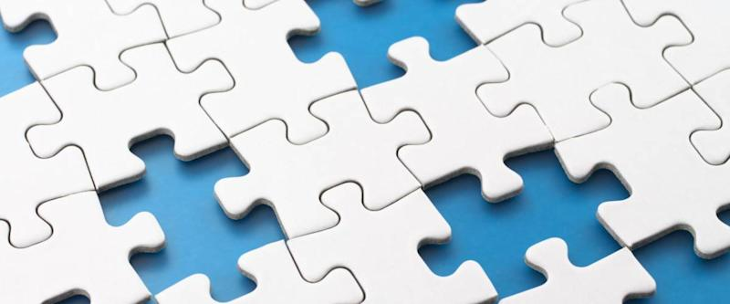 Missing puzzle pieces.Concept image of unfinished task.