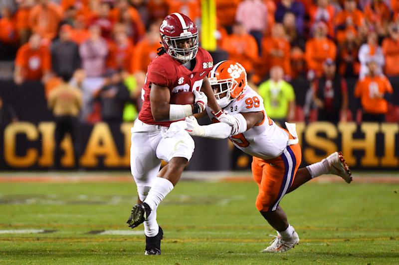 Two Alabama running backs will miss at least the first half of the Crimson Tide's season-opener against Duke on Saturday.
