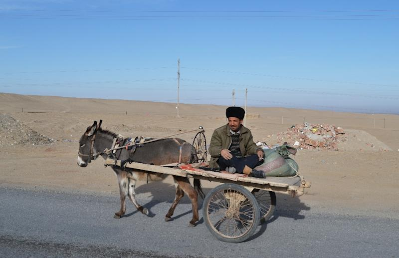 Predominantly Muslim Xinjiang is one of China's poorest regions (AFP Photo/BEN DOOLEY)