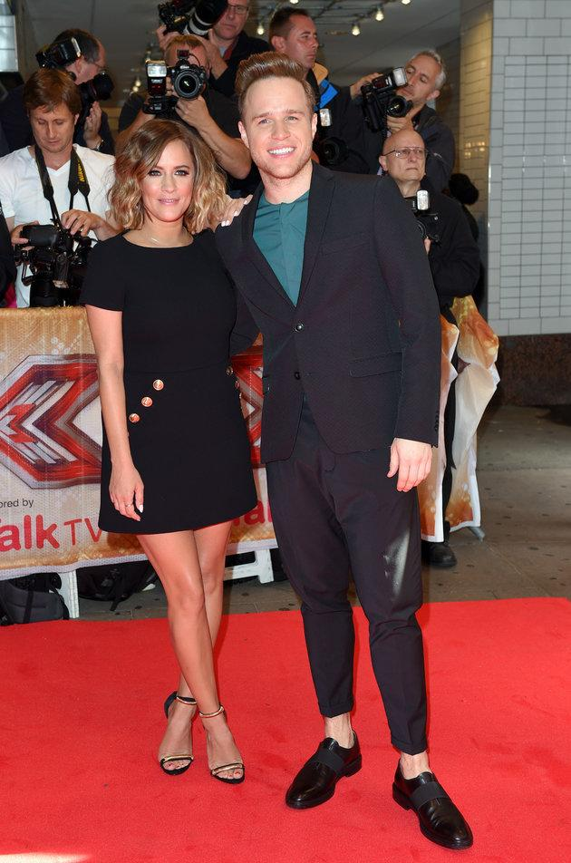 Caroline and Olly hosted 'The X Factor' in 2015