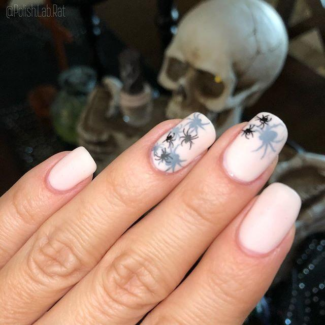 """<p>Creepy crawlers look more cute than creepy with this this fun, funky nail look. Add metallics for extra edge. </p><p><a href=""""https://www.instagram.com/p/B4D4_UuFlcS/&hidecaption=true"""" rel=""""nofollow noopener"""" target=""""_blank"""" data-ylk=""""slk:See the original post on Instagram"""" class=""""link rapid-noclick-resp"""">See the original post on Instagram</a></p>"""