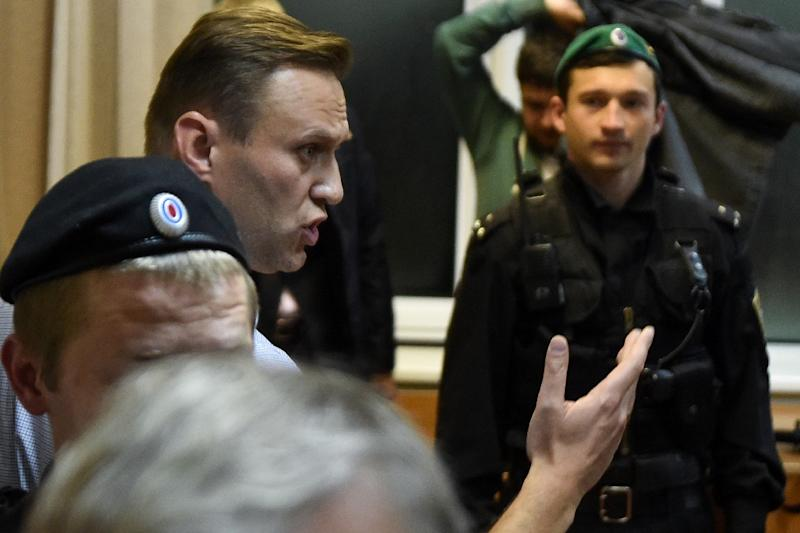 Image result for Russian opposition leader sentenced to 20 days in jail