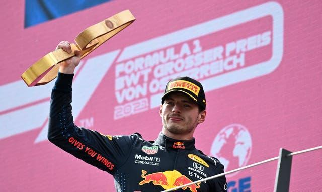 Max Verstappen (pictured) won the Austrian Grand Prix, with Lewis Hamilton finishing fourth (Christian Bruna/AP).