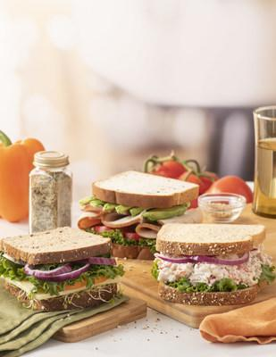 Sandwiches made from Aunt Millie's® Live Carb Smart® and Live Organic® breads