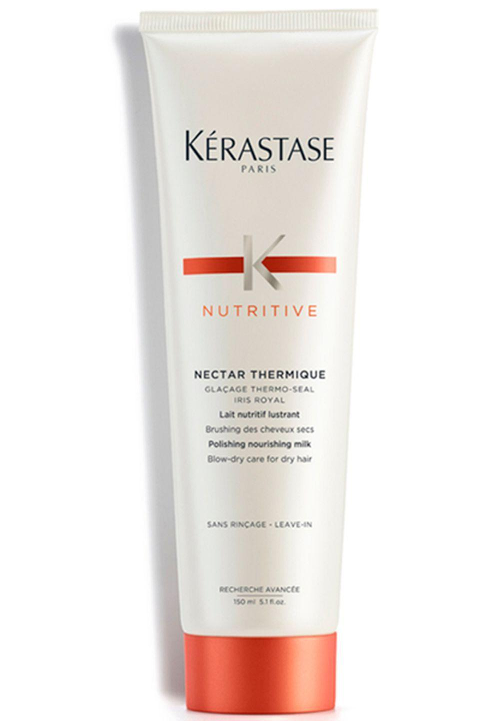 "<p><strong>Best for: Dry to <em>very</em> dry hair</strong></p><p>Kérastase Nutritive Nectar Thermique has been specifically designed for Sahara-dry locks. The moisturising formula works like a big drink of water for brittle lengths. Run a dollop through the mid-lengths to ends and it'll keep those frustrating split ends from settling in. </p><p><strong>Price</strong>: £17.85</p><p><a class=""link rapid-noclick-resp"" href=""https://www.lookfantastic.com/kerastase-nutritive-nectar-thermique-150ml/11258176.html"" rel=""nofollow noopener"" target=""_blank"" data-ylk=""slk:buy now"">buy now</a><br></p>"