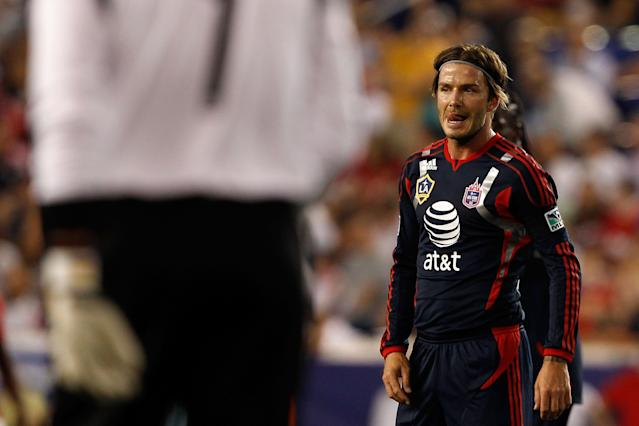 HARRISON, NJ - JULY 27: David Beckham #23 of the MLS All-Stars looks on while playing against Manchester United during the MLS All-Star Game at Red Bull Arena on July 27, 2011 in Harrison, New Jersey. (Photo by Mike Stobe/Getty Images for the New York Red Bulls)